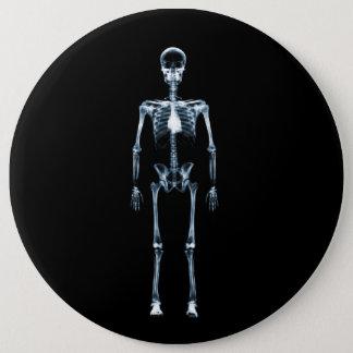 X線の視野の青の独身のな骨組 15.2CM 丸型バッジ