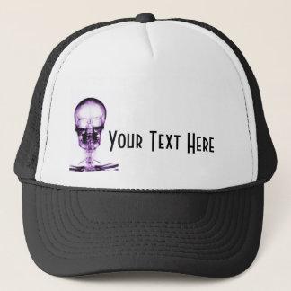 X線の視野の骨組スカルの紫色 キャップ