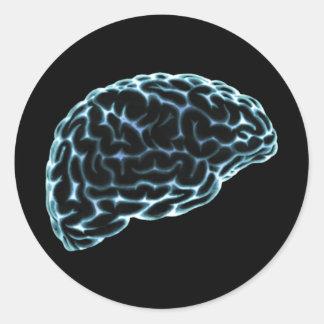 X線の頭脳の側面図の青 ラウンドシール