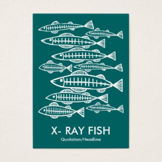 X線の魚-モスグリーン 名刺