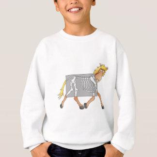 X線を得ている馬 スウェットシャツ