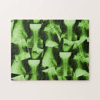 X線撮影をされた放射性緑 ジグソーパズル