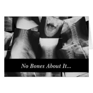 X線撮影をされる グリーティングカード