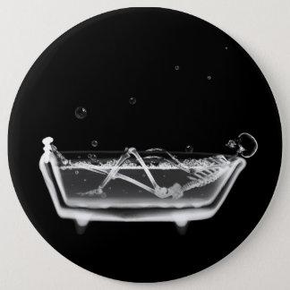 X線骨組B&WのBathの時間 15.2cm 丸型バッジ