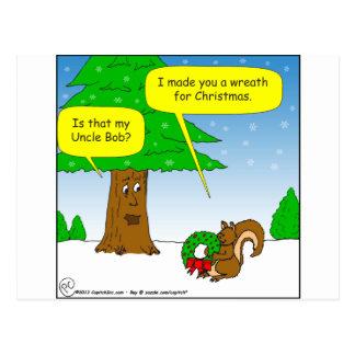 x59叔父さんボブのクリスマスのリースの漫画 ポストカード