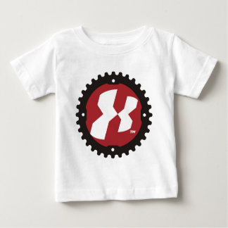 """""""X""""のバイクのギア ベビーTシャツ"""