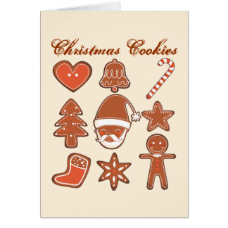 X-masのクッキー カード