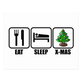 、X-Mas食べて下さい、眠らせて下さい ポストカード