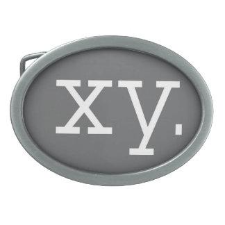 X-Y染色体-バックルの楕円形 卵形バックル