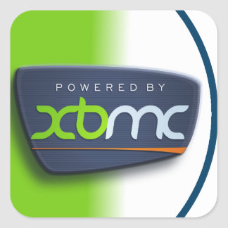 XBMCのステッカーによって動力を与えられる スクエアシール