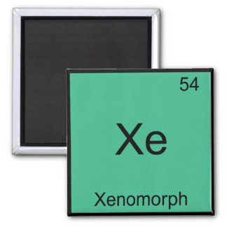 Xe - Xenomorphおもしろいな化学要素の記号のティー マグネット
