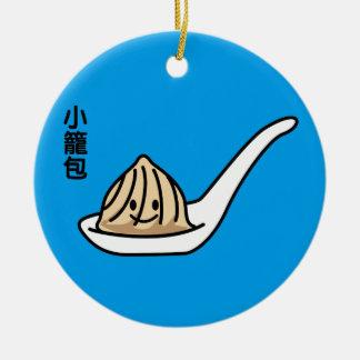 Xiaolongbao中国のなスープゆで団子の点心のパン セラミックオーナメント