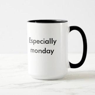 """XLのマグ""""朝吸います特に月曜日""""を マグカップ"""