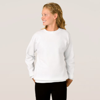 XLの女の子のHanesのカスタマイズスエットシャツ スウェットシャツ