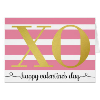 XOのバレンタインカード カード
