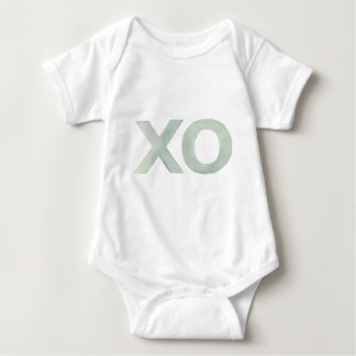 XOの灰色の水彩画 ベビーボディスーツ