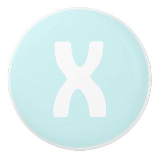 XOの陶磁器のノブ(X) -あなたの色を選んで下さい! セラミックノブ