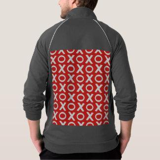 XOはパターンイラストレーションの赤い白に接吻し、抱き締めます ジャケット