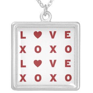 XO愛バレンタインのネックレス シルバープレートネックレス
