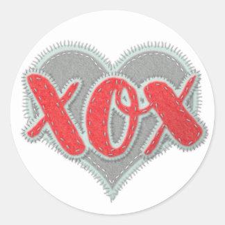 XOXによって手作りされる一見の抱擁およびキス ラウンドシール
