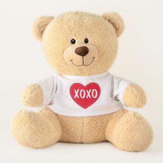 XOXOのバレンタインデーのテディー・ベアのぬいぐるみ テディベア