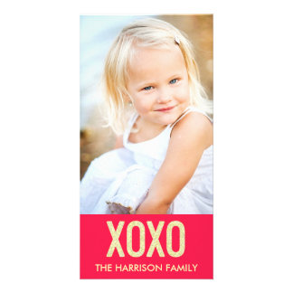 XOXOのバレンタインデーの写真カード カード