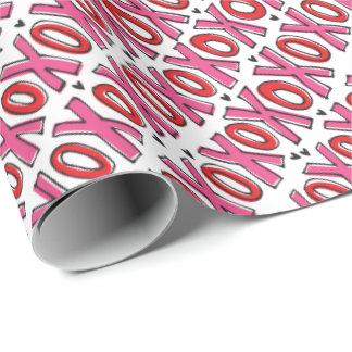 XOXOのバレンタインデーの包装紙 ラッピングペーパー
