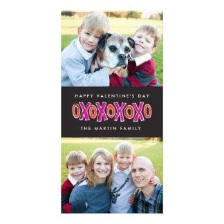 XOXOのバレンタインデーの2写真カード カード