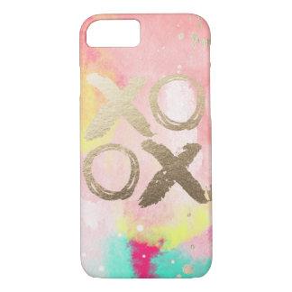 XOXOのパステルおよび金ゴールドのIphoneの場合 iPhone 7ケース