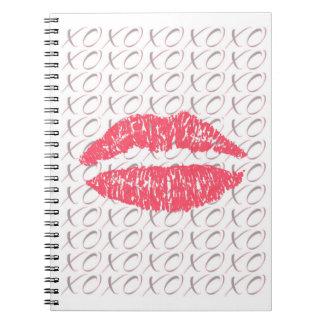 XOXOの唇のノート ノートブック