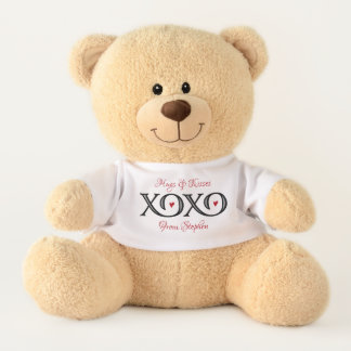 XOXOの抱擁及びキスのテディー・ベア テディベア