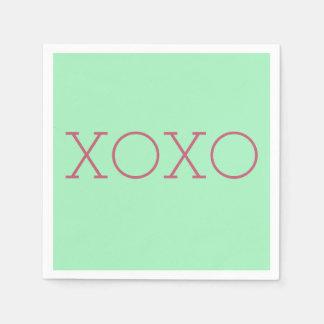 XOXOの紙ナプキン スタンダードカクテルナプキン