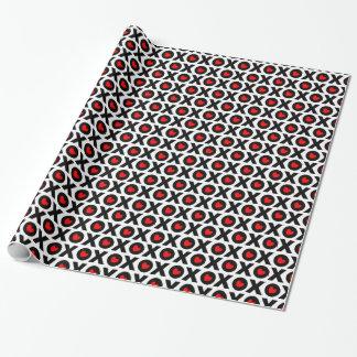 xoxoパターンバレンタインデーの包装紙 ラッピングペーパー