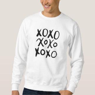 XOXO  の黒いブラシの原稿 スウェットシャツ
