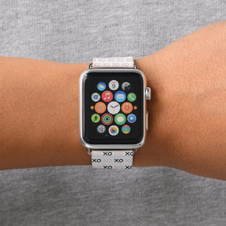 XOXO Hugs Apple Watch Band in Pink and Black Apple Watchバンド