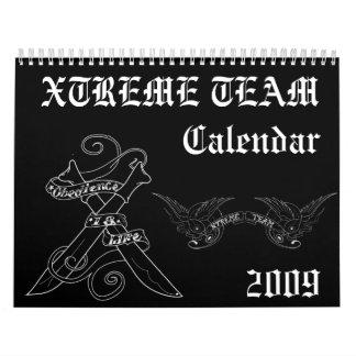 xtremeのチームカレンダー カレンダー