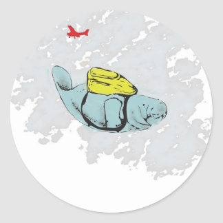 XtremeのマナティーSkydiving ラウンドシール