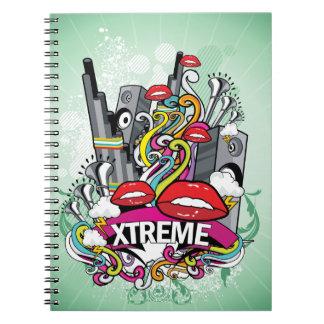Xtremeの落書きのノート ノートブック