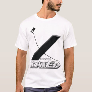 Xtremeの評価されスノーボーダー Tシャツ