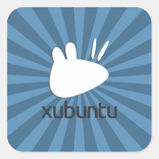Xubuntuのティール(緑がかった色)のスターバスト スクエアシール