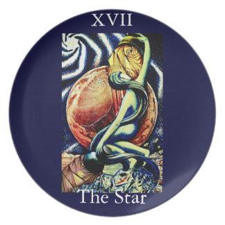 XVII Thothのタロットのプレートからの星 プレート