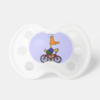 XXおもしろいなアヒルの乗馬の自転車のデザイン おしゃぶり