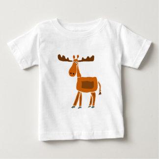 XXおもしろいなアメリカヘラジカの芸術のデザイン ベビーTシャツ