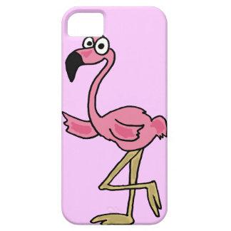 XXおもしろいなピンクのフラミンゴの漫画 iPhone SE/5/5s ケース