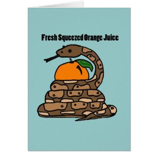 XXオレンジを絞っている大蛇 カード