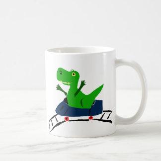 XXジェットコースターの芸術のおもしろいなTレックスの恐竜 コーヒーマグカップ