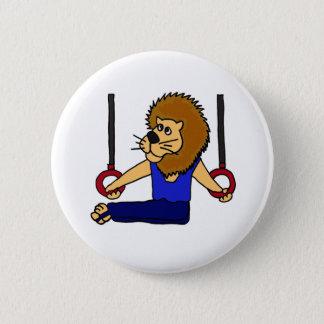 XXリングの漫画のライオンの体育専門家 缶バッジ