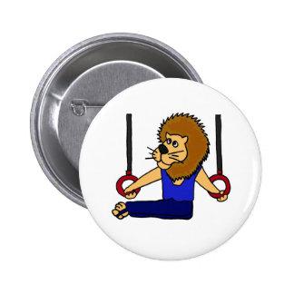 XXリングの漫画のライオンの体育専門家 5.7CM 丸型バッジ