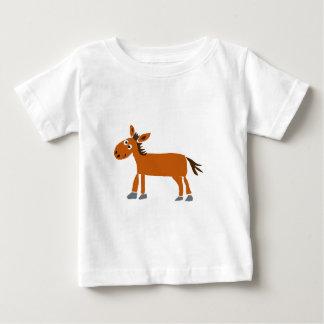 XX原住民の芸術の馬の漫画 ベビーTシャツ