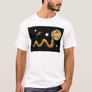 XX宇宙飛行士のヘビの漫画 Tシャツ